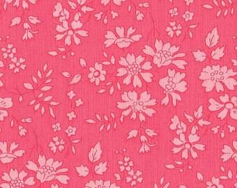 coupon coral pink LIBERTY capel design fabric