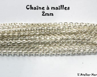 Links 2 mm silver color chain 25cm