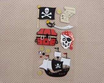 "Santa Claus ""pirates"" 3D stickers"