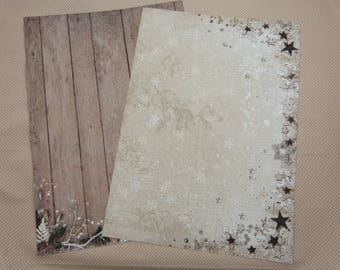 A4 sheet of paper for scrapbooking and card making, Christmas