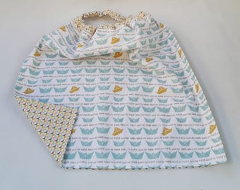 "Table/dining room - elasticated, lined and reversible napkin ""model little ship"""
