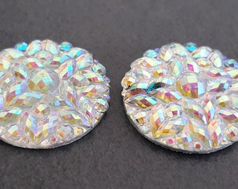 clear rhinestones silver 20 mm x 4