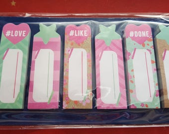 Bookmark note adhesive label paper, 200 pieces