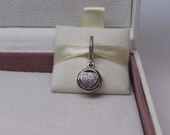 Genuine Pandora Devoted Heart Dangle Charm 792149EN24