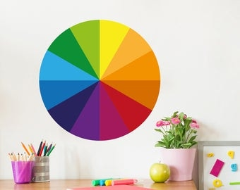 Wall sticker color circle