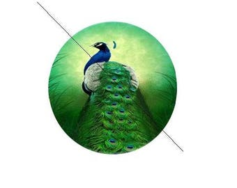 25 mm gorgeous paste 25 mm Peacock glass cabochon