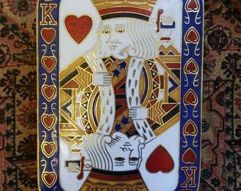 King Of Hearts Metal Trinket Box