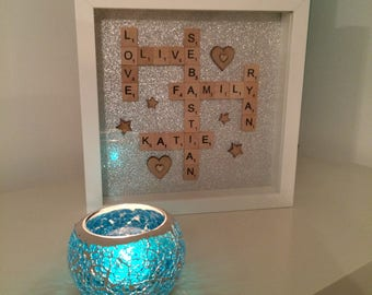 Handmade Personalised Scrabble Frame
