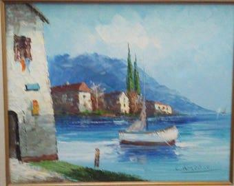 Original Camprio boat painting