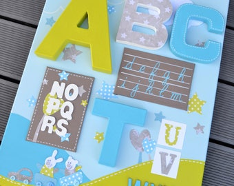Primer table / letters for child (made to order)
