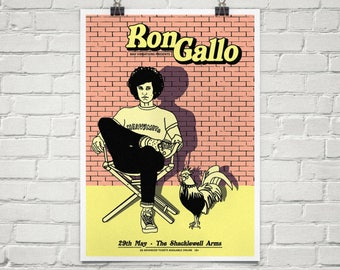 A2 Ron Gallo limited edition screen print