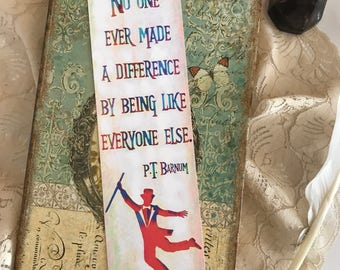The Greatest Showman Bookmark, PT Barnum Bookmark, Showman Bookmark, Muscial Bookmark, Bookworm, Book Lover, Book Nerd, Literary Gifts