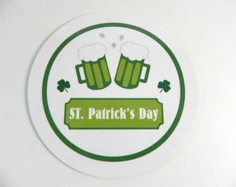 Drink coaster St. Patrick's day coaster round coaster St Patrick's Day