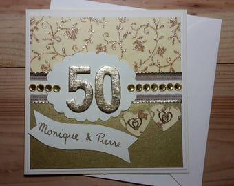 Map wedding anniversary, Golden, 50 years