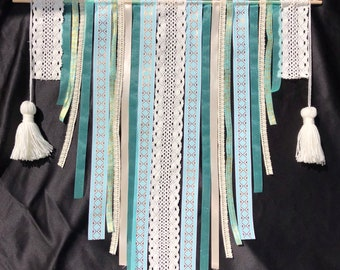 Teal Ribbon Tapestry