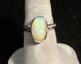 Opal ring Queensland boulder opal ring