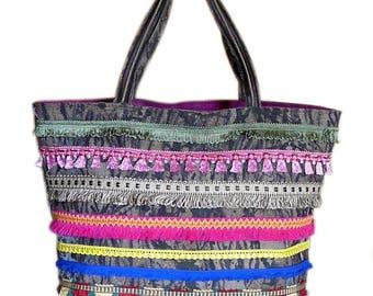 Large Navajo bag with fringe