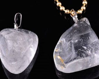 Pendants/charms in fine ' Crystal ' demi-gemme (eye ± 6mm)