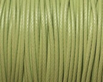 5 m - Cotton wax 1 mm 4558550027184 lime green cord