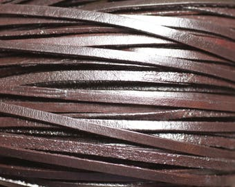 Skein 90 meters - cord strap genuine leather 3mm Brown Coffee - 8741140011403