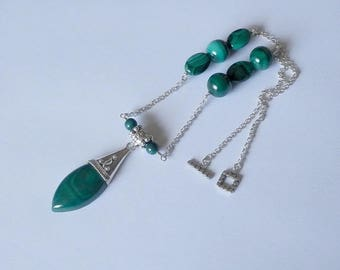 Stana Malachite necklace and silver necklace with beautiful