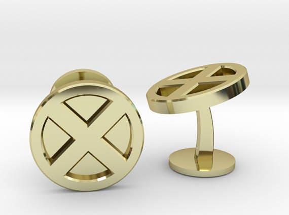 XMen Symbol Wedding Cufflinks Superhero Wedding Cuff Links Geek