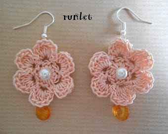 summer crochet flower Earrings