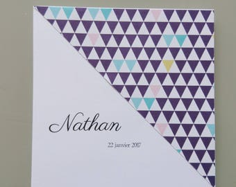Invitation baby boy - congratulations - eco pastel range - baptism invitation card - birthday child
