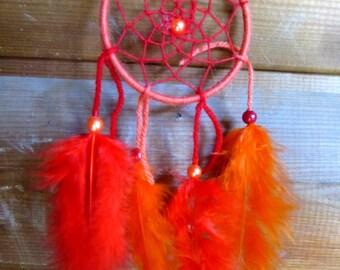 Catch dreams Orange and Red / Miniature / actual 20 cm