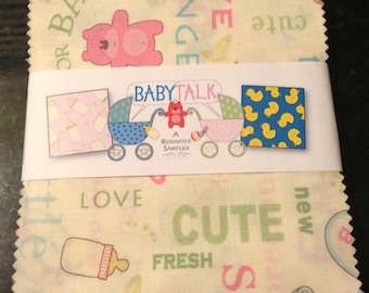 BabyTalk charm pack from Benartex fabrics