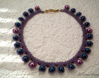 The Choker necklace seed beads and pearls