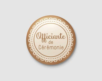 Badge wedding Shabby Chic / country - officiating ceremony