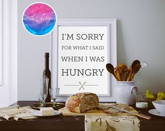 Hungry Home Décor Print by North C Designs