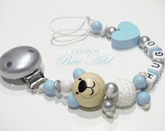 boy pacifier clip / pacifier personalized