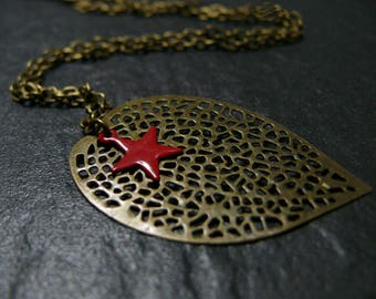 Red Stars necklace