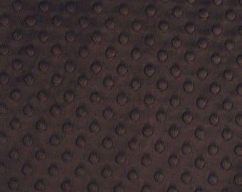 Coupon chocolate velvet minky fabric