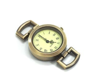 1 watch face for making DIY - 48 x 29 mm - color Bronze watch