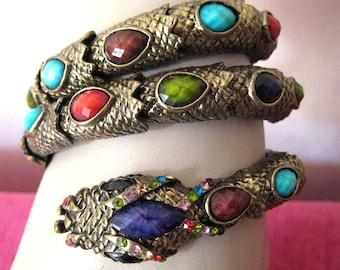 Vintage snake bracelet copper