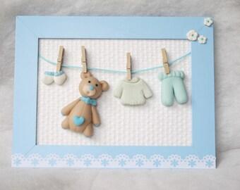frame birth or christening boy version