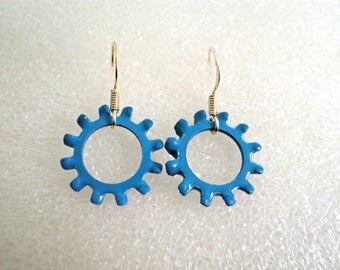 Medium Star Lock Washer Earrings
