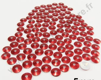 Sequin Thermo - BORDEAUX - 5mm - x 150pcs