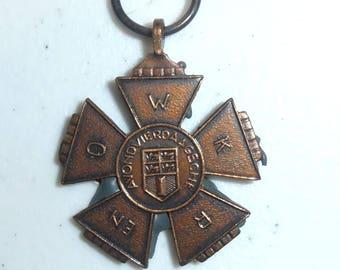 Rare Vintage Medal Avondvierdaagse W K R EN O Rotterdam Walking Medal 1956