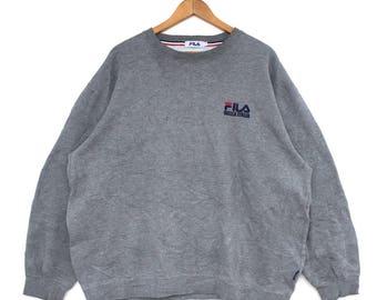 Rare!!! Vintage Fila Small Logo Spell Out Sweatshirt