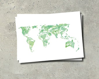 Worldmap Postcard