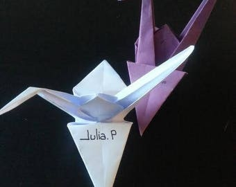Mark up origami crane (wedding)