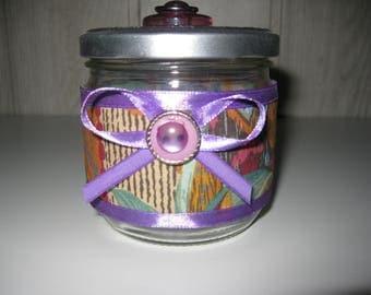 customized glass jar