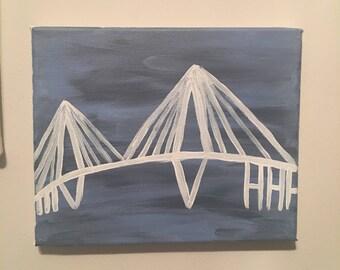 ravenel bridge acrylic painting