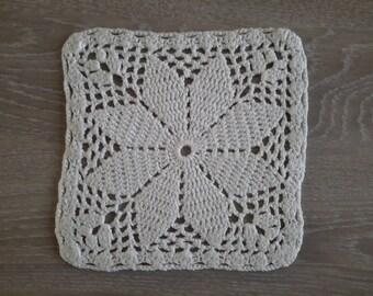 vintage doily handmade crochet cotton