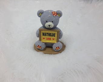 Teddy bear personalized name Mathilde