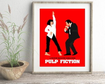 17x25.35 Pulp Fiction Poster, Pulp Fiction Pop Art Dance Poster, Pulp Fiction Art, Pulp Fiction Print,Pulp Fiction Movie Poster,Movie Poster